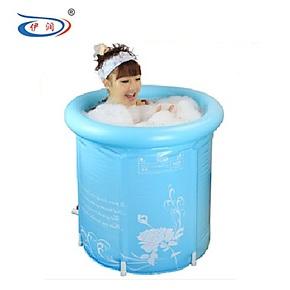 伊润超厚省水 折叠浴桶 成人浴盆 充气浴缸 沐浴桶泡澡桶洗澡桶