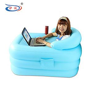 伊润 加厚保温充气浴缸折叠浴桶 浴缸泡澡桶沐浴桶成人浴盆洗澡桶