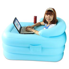 伊润新品加厚保温中号充气浴缸折叠浴缸浴桶泡澡桶沐浴桶