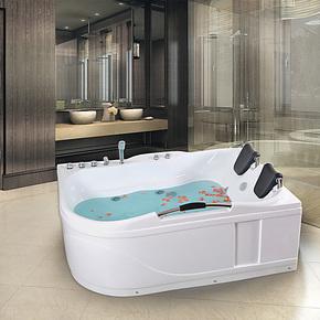 欣美亚克力双人浴缸冲浪按摩保温浴缸独立式压克力1.7米XMC018