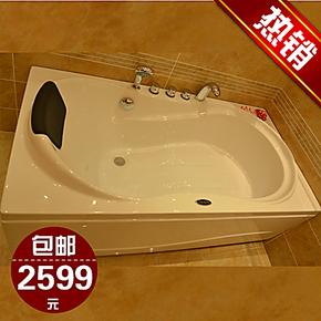 法恩莎浴缸正品 卫浴特价 1.7五件套浴缸亚克力包邮F1701SQ含龙头