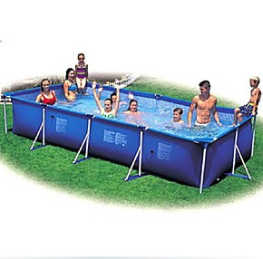 正品大型成人支架式水池家庭浴缸儿童游泳池超大充气戏水养殖鱼缸
