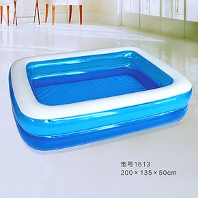 海之雨儿童充气水池家庭游泳池婴幼儿戏水池成人充气浴缸超大加厚