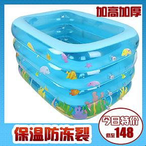 加高加厚婴儿游泳池充气超大号幼儿童宝宝游泳池成人浴缸浴盆正品
