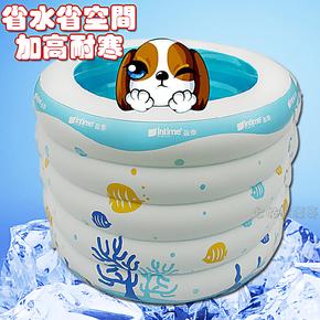 正品洗澡桶婴儿童游泳池充气加厚保温 成人游泳池充气浴缸超大号