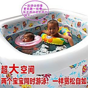 诺澳正品 超大婴儿双人游泳池 充气儿童宝宝家用式泳池 浴缸加厚