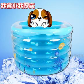 宝宝游泳池充气加厚正品婴儿洗澡桶游泳桶儿童充气游泳池成人浴缸