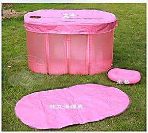热销豪华伊润双人加厚折叠浴缸情侣浴盆成人泡澡桶沐浴桶免充气式
