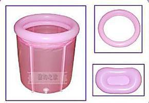 折叠浴缸折叠浴桶充气沐浴桶70*70气圈可分离式带气圈 充气筒