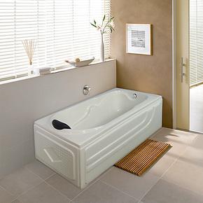 艾戈恋家双裙边浴缸 亚克力1.3米小浴缸 迷你浴缸 浴池LJ-5002