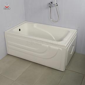 艾戈恋家双裙边浴缸 亚克力1.2米迷你小浴缸浴池配送下水器5001