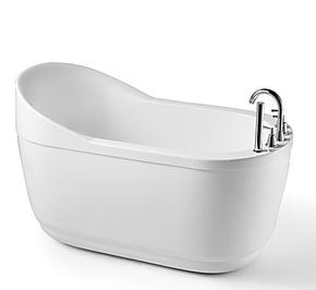 实拍!1.4米亚克力浴缸/迷你小浴缸/深泡缸/高靠背浸泡浴缸803