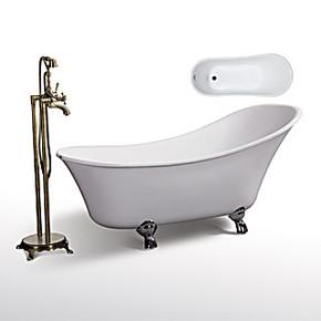 欧式古典贵妃浴缸 压克力浴缸 1.55M亚克力浴缸 小浴缸BS-8307