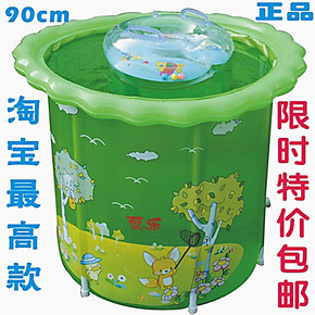 80 90超大加厚透明夹网支架式婴幼儿游泳池 成人充气宝宝洗澡浴缸