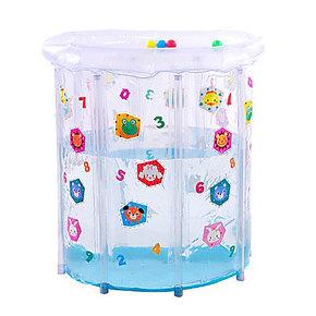 曼波鱼屋宝贝爱游PVC透明彩绘婴儿游泳池家用泳池充气浴缸无毒