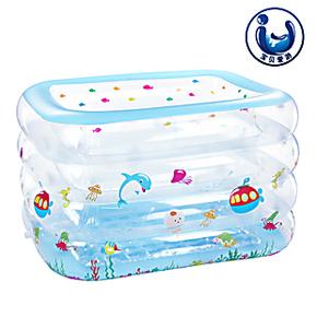 曼波鱼屋宝宝游泳池洗澡池成人浴缸透明鱼缸充气长方形加厚环保材