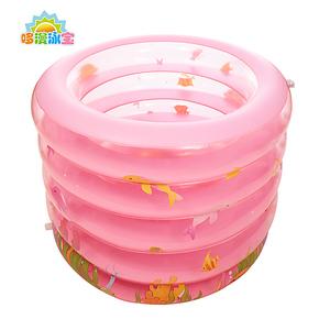小宝宝透明游泳池 新生儿洗澡盆 婴幼儿充气泳桶 小孩充气浴缸