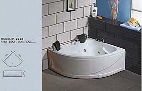 1.5米 三角形压克力浴盆  按摩冲浪浴缸 亚克力五件套缸 D41515