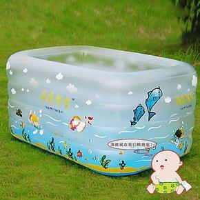 贝博氏婴儿浴缸 充气游泳池 宝宝充气泳池 充气浴缸泳池 包邮配泵