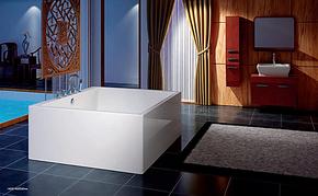 正方形浴缸 压克力亚克力独立式浴缸 1.3米 1.4米双人浴缸8871