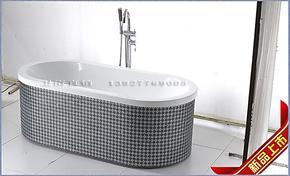 高品质!亚克力浴缸/纯手工贴马赛克浴缸/1.5米独立浴缸/2207