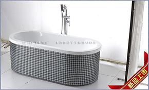 高品质亚克力浴缸/纯手工贴/马赛克浴缸/ 1.6米独立浴缸/2207