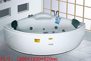 PK箭牌安华浪鲸冲浪按摩亚克力浴缸双人浴缸贵妃浴缸铸铁小浴缸