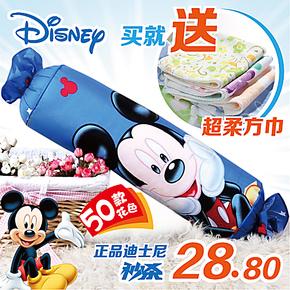 特价迪士尼糖果枕头全棉长抱枕圆柱靠垫腰枕芯卡通可拆洗可爱儿童