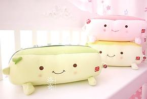 震动减压 豆腐按摩枕 抱枕靠枕头创意 办公室靠垫 生日礼物女可爱