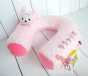 日本正单Rilakkuma轻松小熊电动按摩颈枕/U型枕/抱枕头枕3色入
