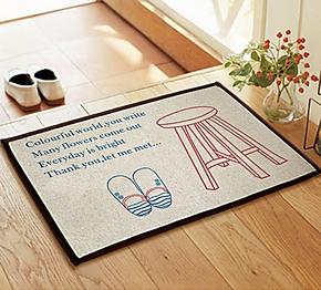 2条包邮 外贸家用地毯 门垫防滑垫 飘窗地垫 欧美现代卡通地垫