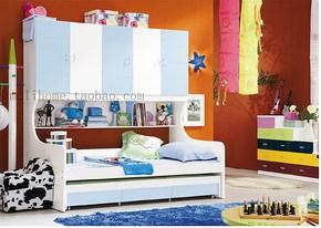 儿童床双层床高低上下床子母床 儿童衣柜床 魔力家居 包邮