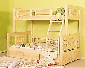 包邮 白色成人儿童松木上下床双层床子母床实木母子高低床宜家