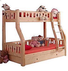 宜家儿童床上下床高低床子母床母子床上下铺双层床实木松木家具