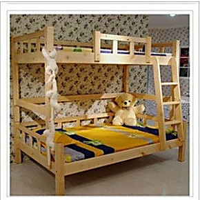 宜家实木儿童床上下铺高低床上下床子母床双层床母子床两层床实木