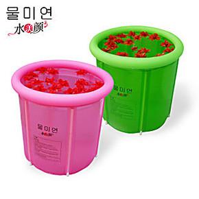 批发水美颜 折叠浴桶/塑胶浴盆/充气浴缸/洗澡桶/特价送盖子