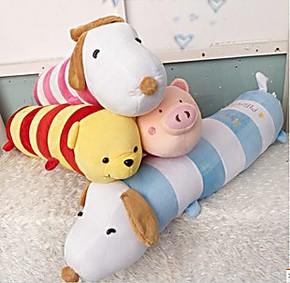 外贸余单 粉色小猪抱枕/长猪枕/史努比抱枕/头枕 /猪枕头/大号