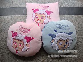 儿童节礼物*喜洋洋抱枕被*娃娃被 多功能卡通被/车载空调被宝宝被