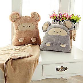 包邮卡通暖手捂抱枕可爱空调被毛毯三合一多功能两用抱枕生日礼物