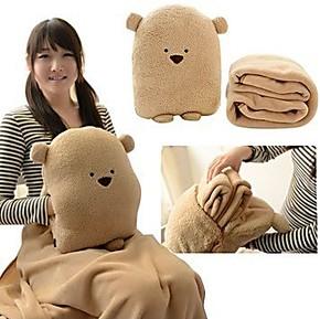 卡通暖手捂抱枕空调被多合一毛毯 多功能两用抱枕女生生日礼物