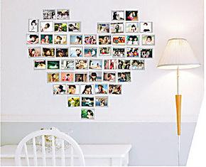 爱的小家/照片墙贴相册相片相框墙贴卧室客厅心型心形照片贴 5寸