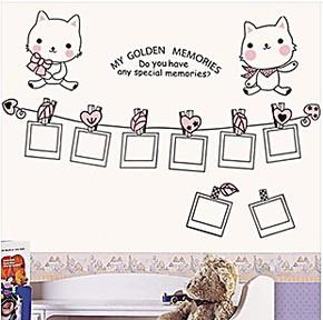 照片墙贴 包邮 可爱小猫相册客厅沙发贴纸 背景墙 卧室儿童房壁画