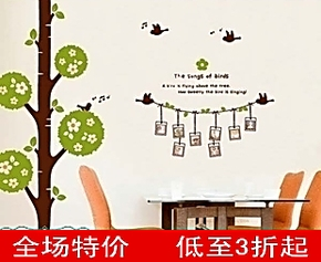 教室装饰墙贴 照片树相册贴 客厅走廊相片许愿树照片墙可移除