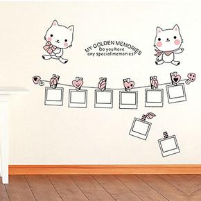 新款特价家装家饰 小猫相册照片墙贴客厅卧室儿童房墙沙发背景贴