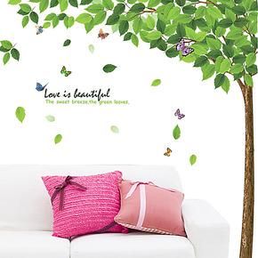 墙贴特价包邮 大型环保移除立体感墙贴树 客厅电视墙卧室装饰壁纸