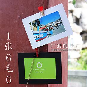纸相框 麻绳夹子DIY 6寸悬挂式 纸质相框 相册 照片墙相册 批发
