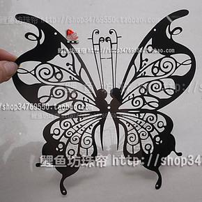 不锈钢珠帘 壁贴  壁饰 背景墙 个性装饰 金属帘 不锈钢蝴蝶 银色
