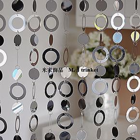 实拍 个性金属系列 不锈钢面珠帘 门帘 珠帘 金属珠帘 玄关