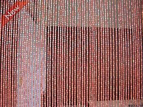 枣红色荷木珠门帘 木珠帘招财转运帘 隔断风水门帘珠串 1元每米
