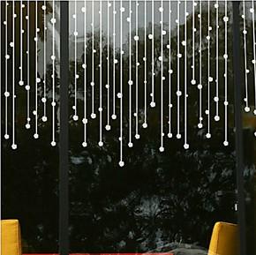 卧室浪漫床头珠帘墙贴纸 玻璃踢脚线腰线 客厅电视墙浴室门玻璃贴
